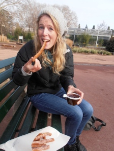Jamie's first churroes experience