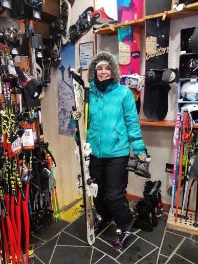 Only pic of me actually with skis